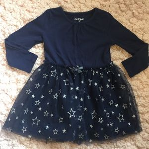 EUC navy tulle skirt dress 4T!